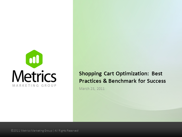 Shopping Cart Optimization:Best Practices & Benchmark for Success