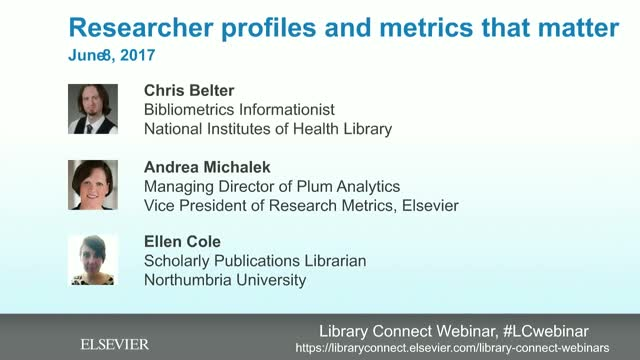 Researcher profiles and metrics that matter