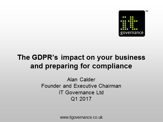 The GDPR's impact on your business and preparing for compliance