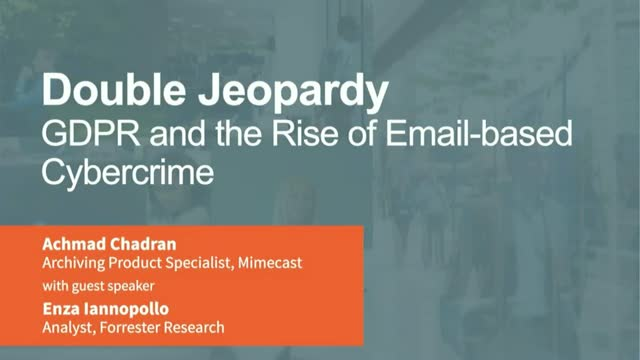 GDPR & The Rise of Email-Based Cybercrime