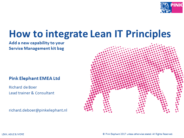 How to integrate Lean IT Principles