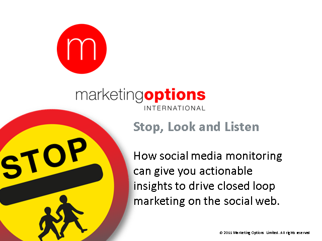 Stop look and listen: The value of social media monitoring