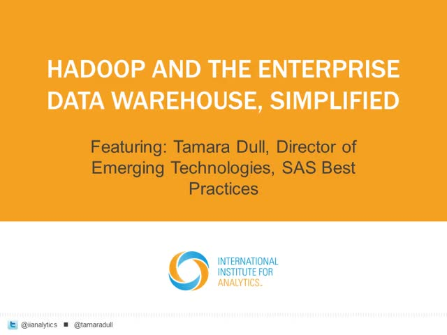 Hadoop and the Enterprise Data Warehouse, Simplified