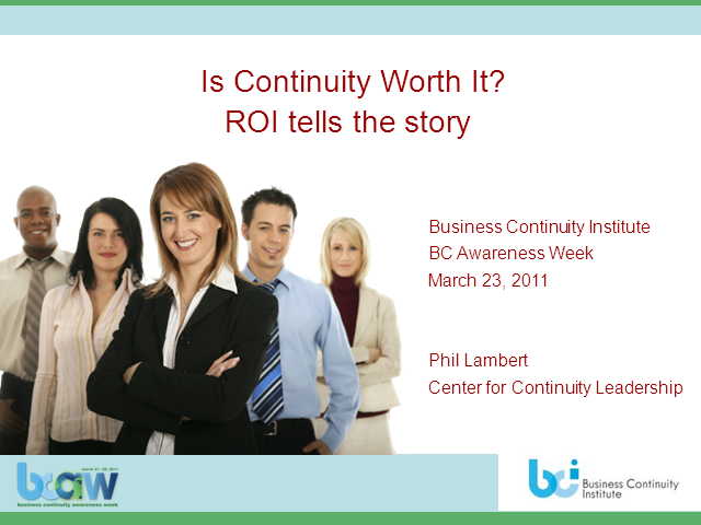 Is Continuity Worth It? ROI tells the story