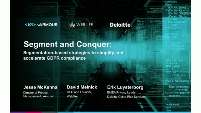 Segment & Conquer - Segmentation Strategies to Accelerate GDPR Compliance