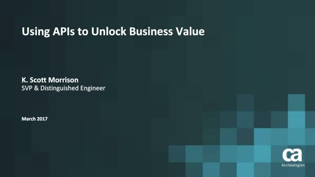 Using APIs to Unlock Business Value