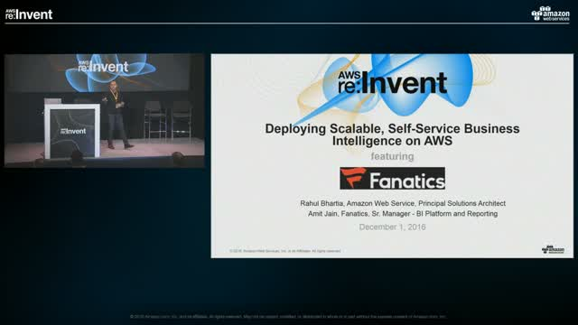 [LIVE Presentation: AWS re:Invent 2016] Deploy Scalable, Self-Service BI on AWS