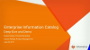 Enterprise Information Catalog 10.2 - Deep Dive and Demo
