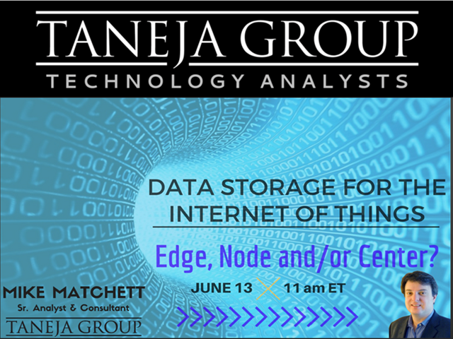 Data Storage for the Internet of Things - Edge, Node and/or Center?