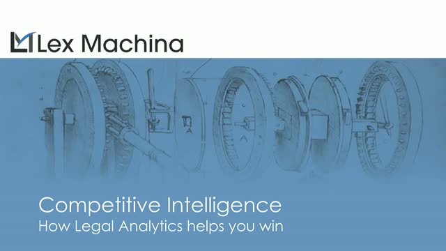 The Future of Law - Competitive Intelligence with Legal Analytics