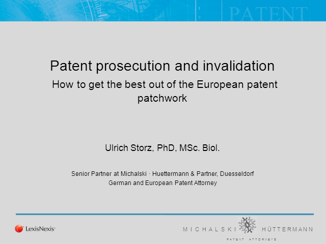 Strategies for European patents, prosecution and enforcement