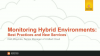 Monitoring Hybrid Environments: Best Practices and New Services