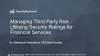 Managing Risk: Utilizing Security Ratings in Financial Services