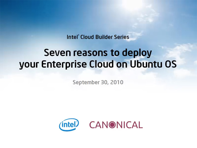 Seven Reasons to Deploy Your Enterprise Cloud on Ubuntu OS