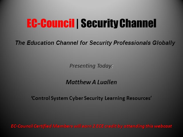 Control System Cyber Security Learning Resources