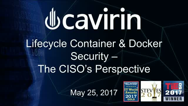 Lifecycle Container & Docker Security - The CISO's Perspective