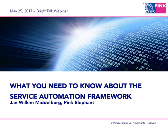 What You Need To Know About The Service Automation Framework