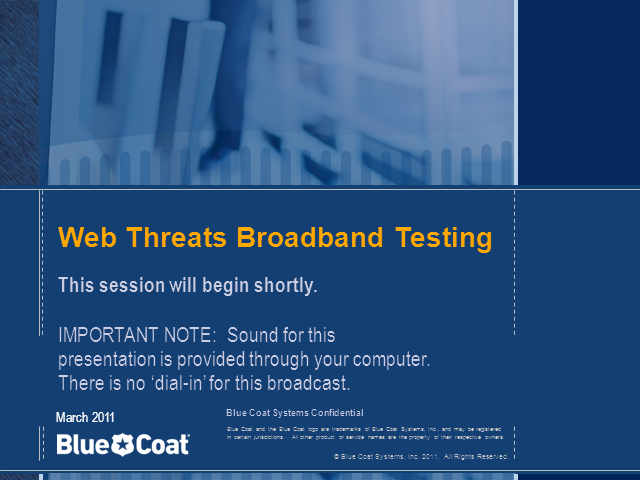 Web Threats Broadband Testing