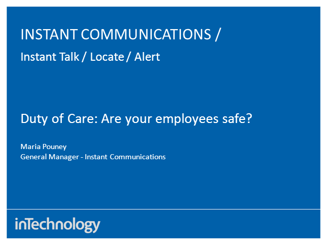 Duty of Care: Are your employees safe?