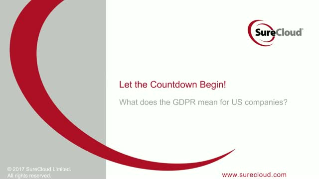 Let the countdown begin: What does the GDPR mean for US companies?