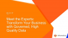 Meet the Experts: Transform Your Business with Governed, High Quality Data
