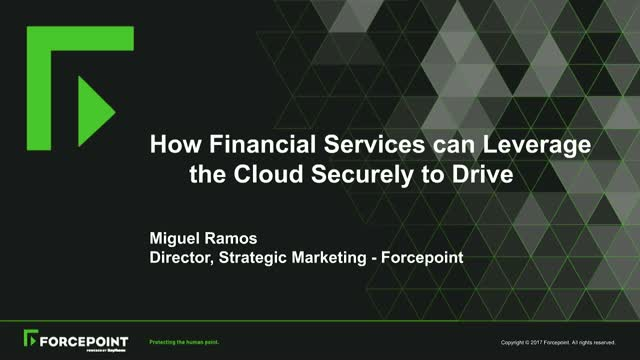 How Financial Services can Leverage the Cloud Securely to Drive Business