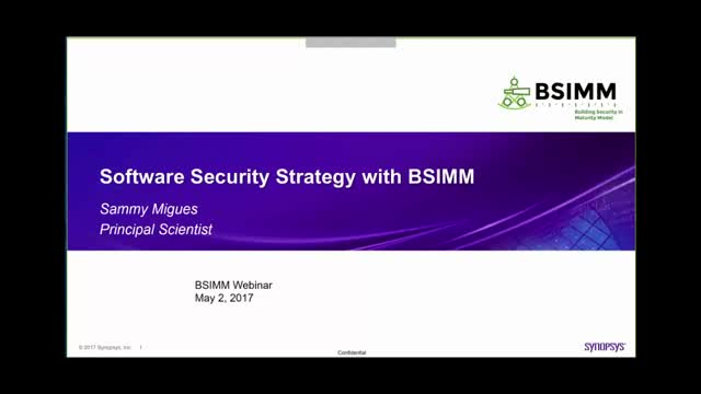 Software Security Strategy with BSIMM