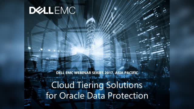 Cloud Tiering Solutions for Oracle Data Protection