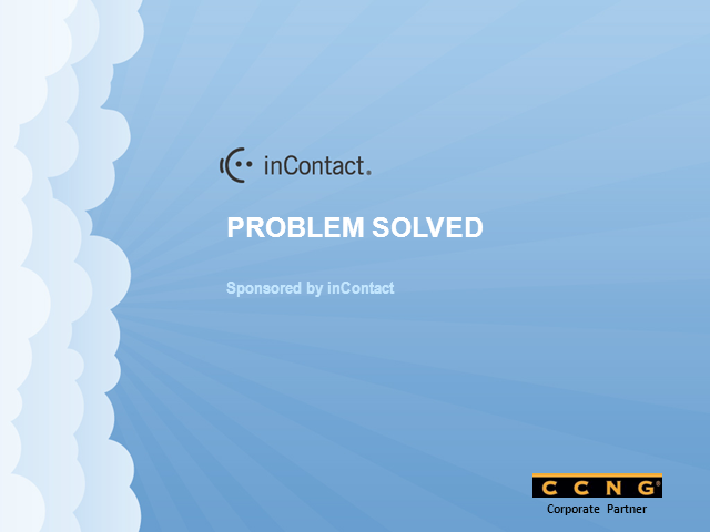 "inContact Launches ""Problem Solved"" Roadshow for Contact Centers"