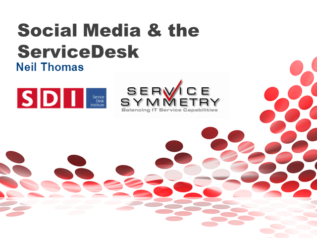 Social Media and the Service Desk