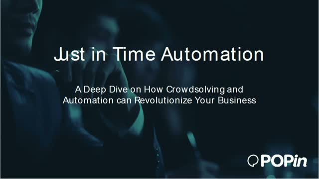 Just in Time Automation