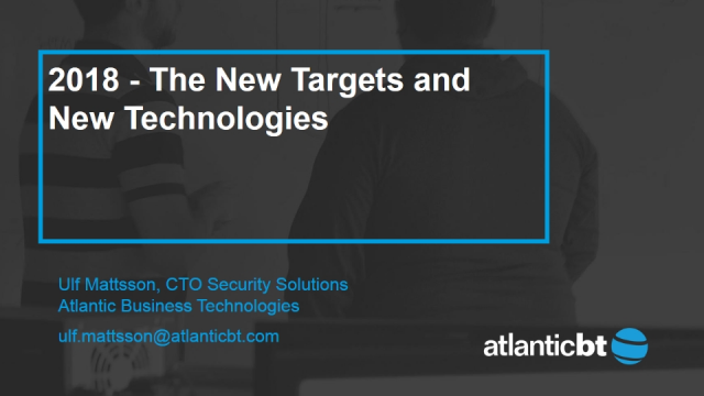 2018 - The New Targets and New Technologies