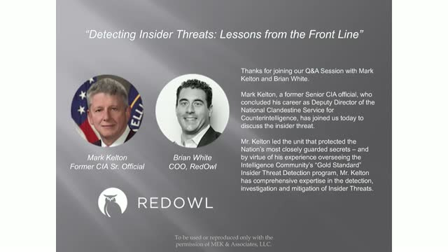 Detecting Insider Threats: Lessons from the Front Line