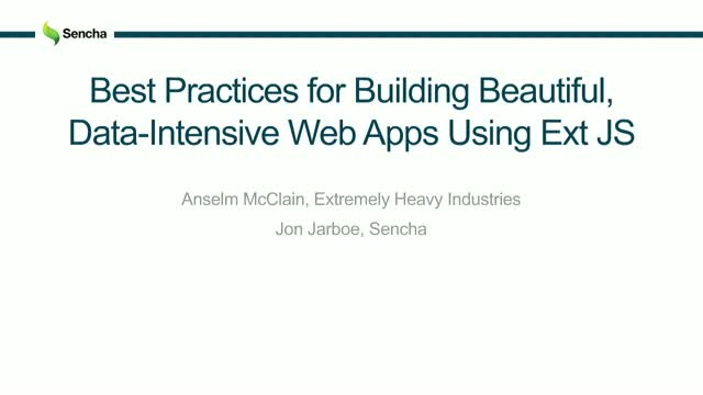 SNC - Best practices from XH.IO for building beautiful, data-intensive web apps