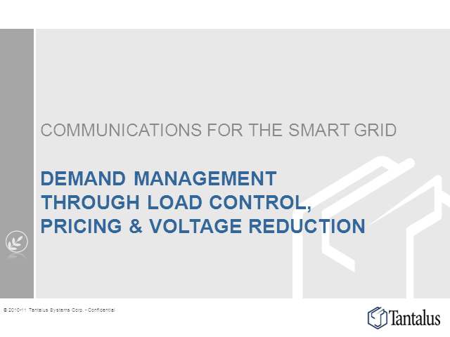 Demand Response through Load Control, Pricing & Voltage Reduction