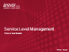 Service Level Management: Time to Get Started