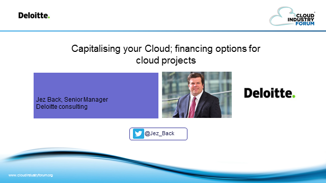 Capitalising Your Cloud; financing options for cloud projects