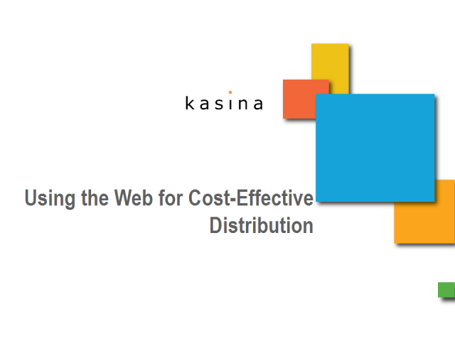 Using the Web for Cost-Effective Distribution