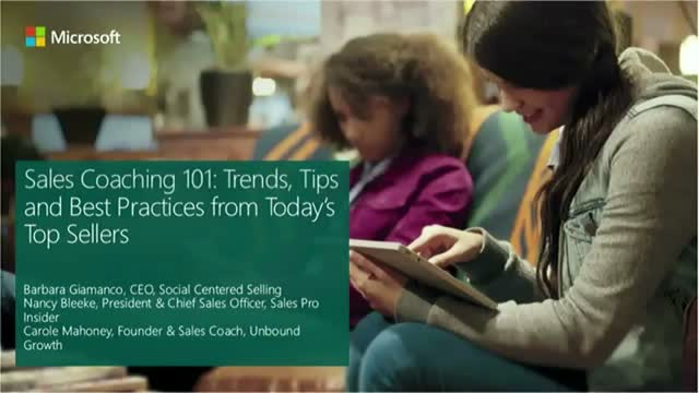 Sales Coaching 101: Trends, Tips and Best Practices from Today's Top Sellers
