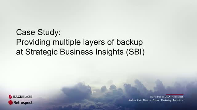 Case Study: Providing multiple layers of backup at SBI