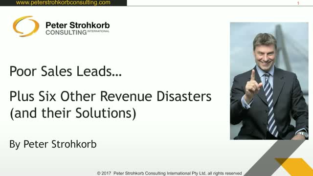 Poor Sales Leads, And Six Other Revenue Disasters!