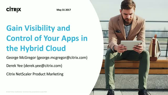 Citrix Webinar: Hybrid Cloud Basics- Get Control & Visibility for All your Apps
