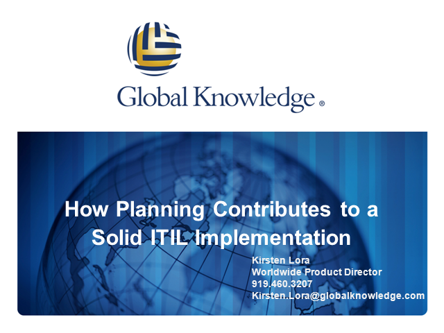 How Planning Contributes to a Solid ITIL Implementation