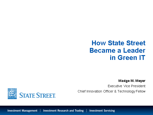 How State Street Became a Leader in Green IT