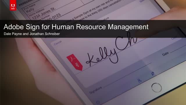 Digitising HR: Hire and Onboard Faster with Adobe Sign