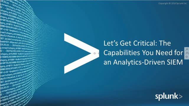[Product overview] How to Use Splunk ES for Analytics-Driven SIEM?