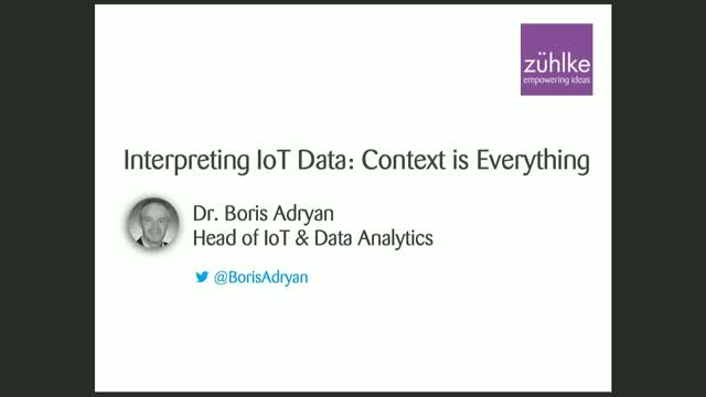 Interpreting IoT Data: Context is Everything