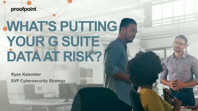 Flash Webinar: What's putting your G Suite data at risk?