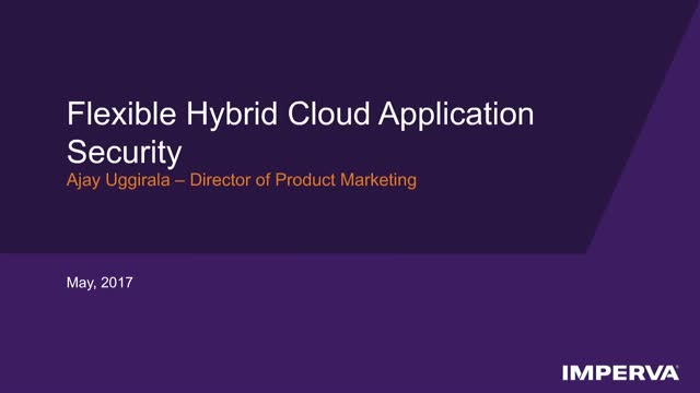 Tech Demo - Flexible hybrid cloud application security