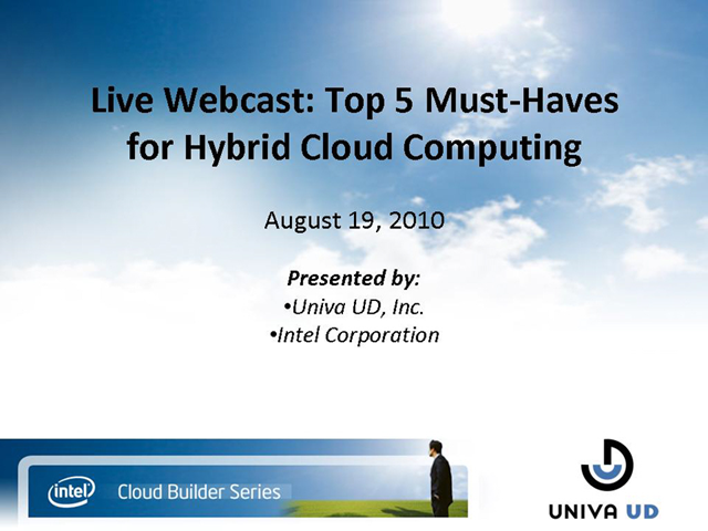 Top 5 Must-Haves for Hybrid Cloud Computing